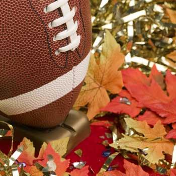 Football in Leaves